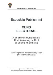 Exposició pública del cens electoral