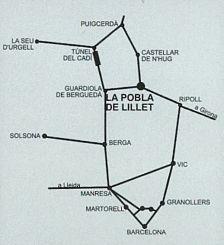 Mapa situació La Pobla de Lillet